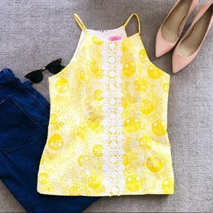 Lilly Pulitzer structured halter tank top